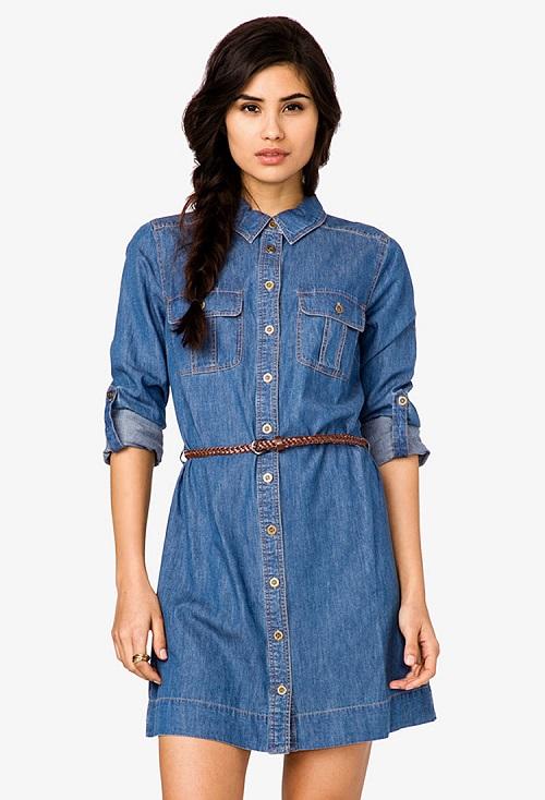6ea9b486346 Джинсовое платье-рубашка