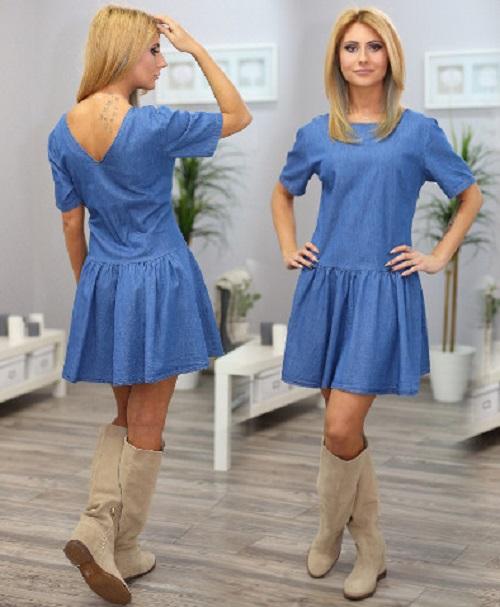 c80752ec479 Джинсовое платье-трапеция