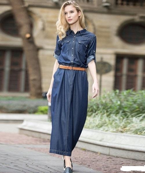 c2c5f267374 Джинсовое платье-длинное